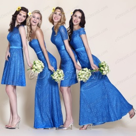 eDressit Blue Bridesmaid Dresses