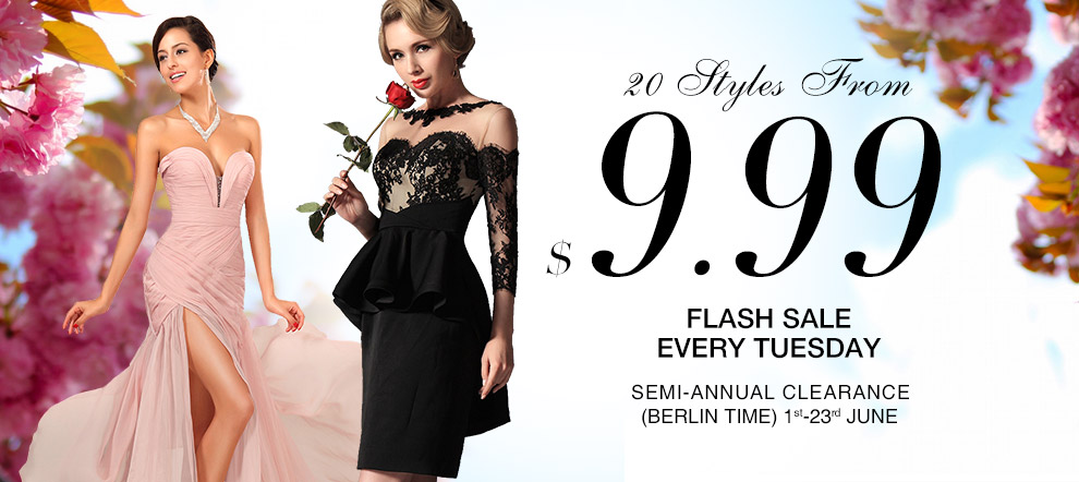 Flash Sale Every Tuesday – 20 Styles Dresses From$9.99