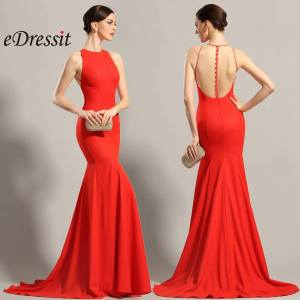 red fashion dresses front and back