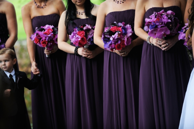 Purple-magenta-fuchsia-wedding-bouquets