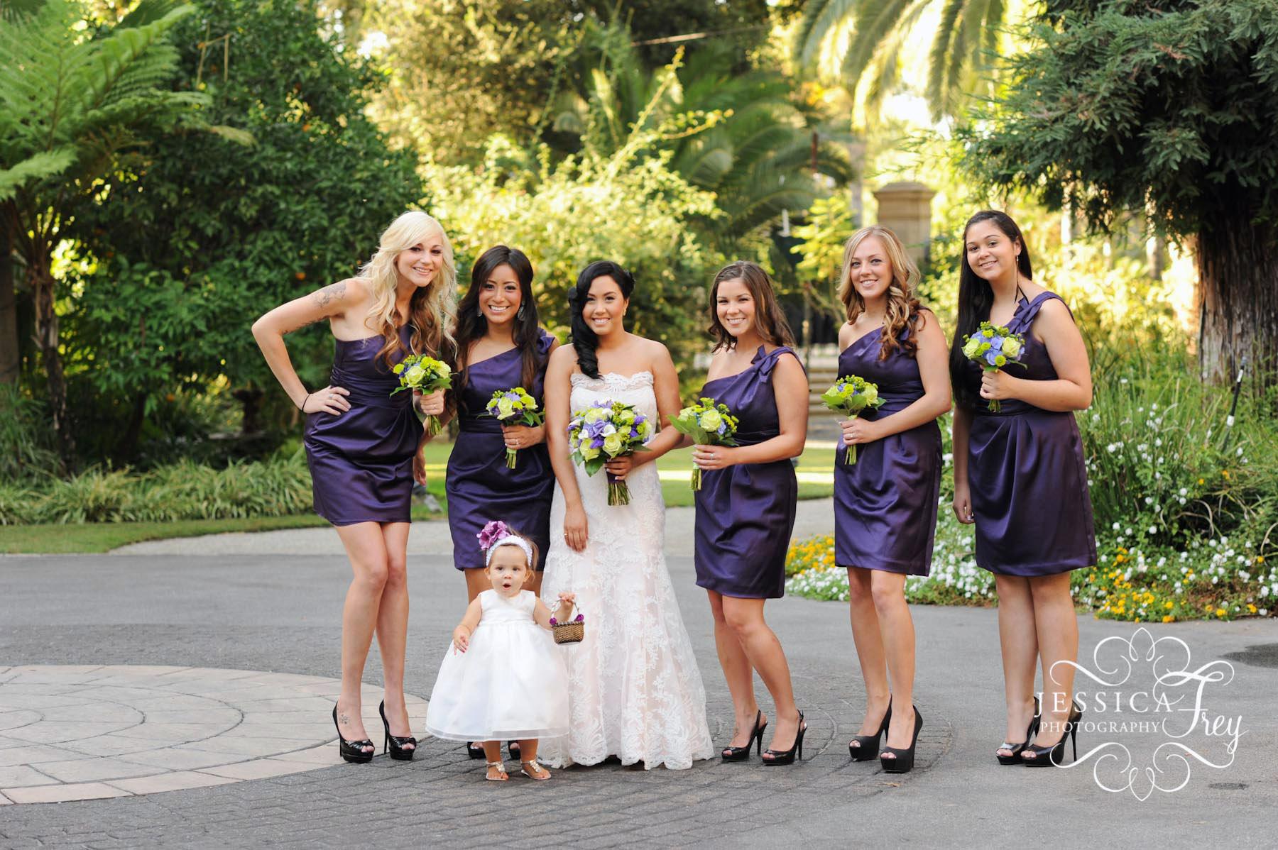 Maid of Honor Dresses Purple Short