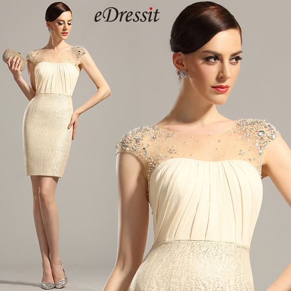 stylish knee length party dress