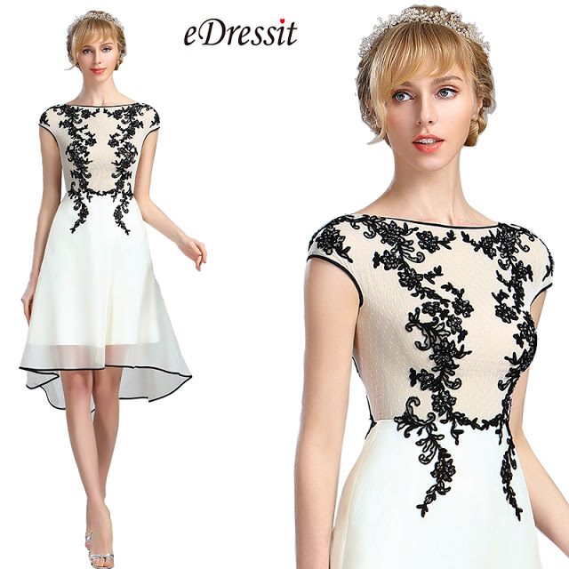 eDressit White Lace Appliques Beaded Evening Dress