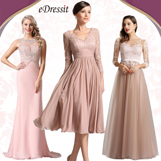 Elegant Long Sleeves Illusion Neck Long Formal Evening Dress