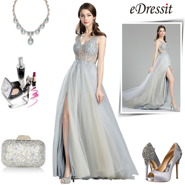 eDressit Sparkly V Cut Beaded Evening Dresses for Women (36180508)