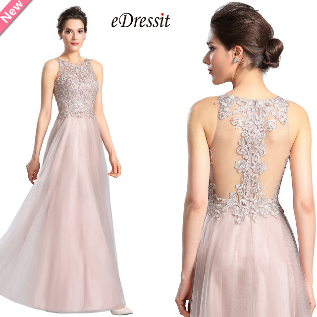 Halter Neck Embroidery Bodice Prom Dress Formal Gown