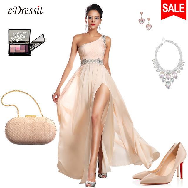 New Arrival Elegant One Shoulder Evening Dress
