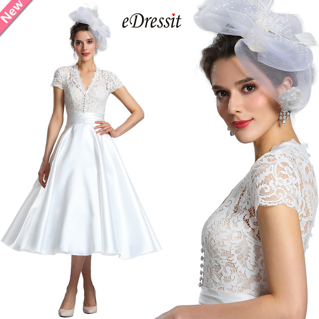 white cap sleeves wedding cocktail dress