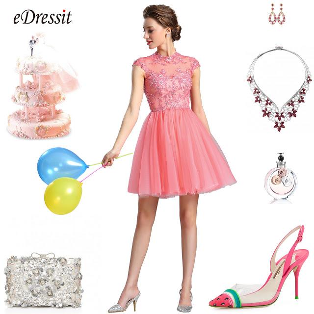 f09efc7f57 eDressit Lace Applique Coral Cocktail Dress Party Dress