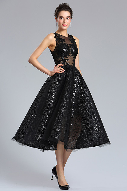 bc238e31cf eDressit Sexy Black Sequins Cocktail Party Dress