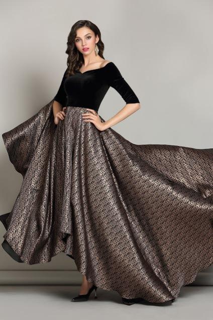 Off the Shoulder Black Dress Formal for Women