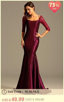 Graceful Burgundy Evening Dress Formal Gown
