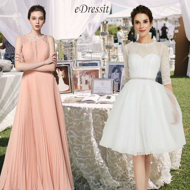 White High Neck Tulle Cocktail Party Dress