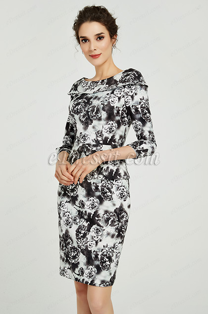 printed mother of the bride dress