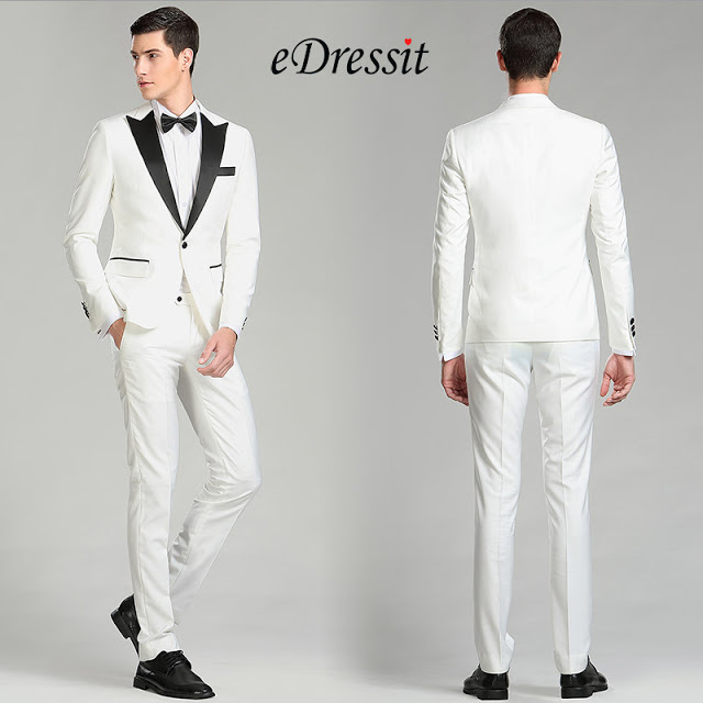 White&Black Custom Men Suits Party Tuxedo