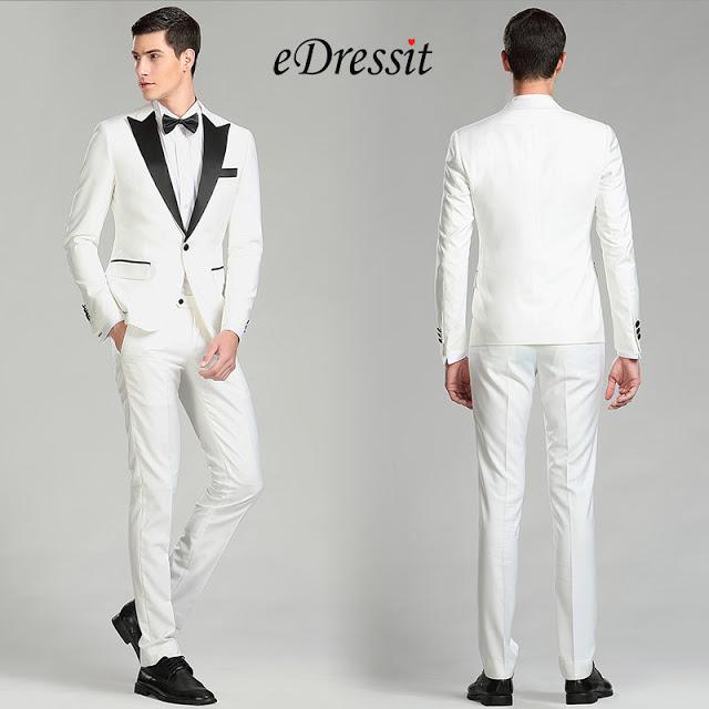 White&Black Custom Men Suits Party Tuxedo