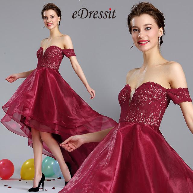 Burgundy Off Shoulder Prom Homecoming Dress