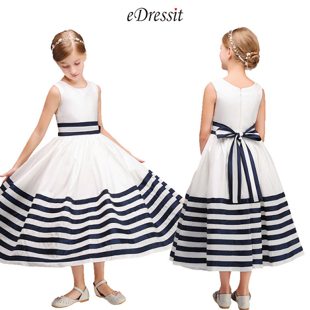 Long Lovely A-line Flower Girl Dress