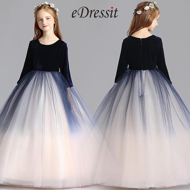 empire black top princess wedding flower girl dress