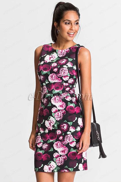 Simple Printed Vest Skirt Summer Dress