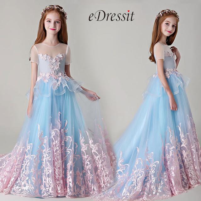 Princess Children Wedding Flower Girl Dress