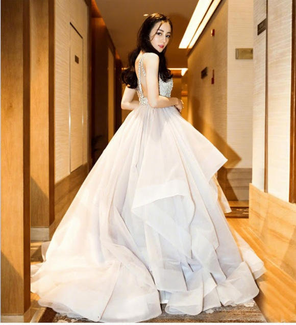 Beaded Layer Tulle Women Wedding Dress