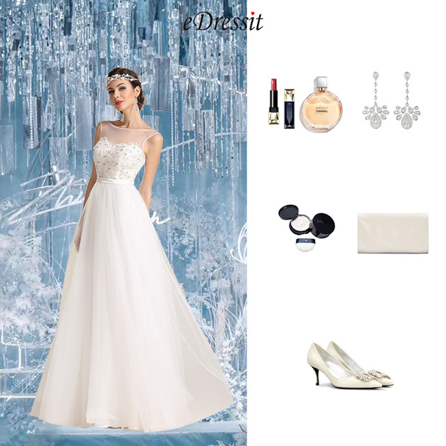 Sleeveless Sweetheart Wedding Dress Reception Dress