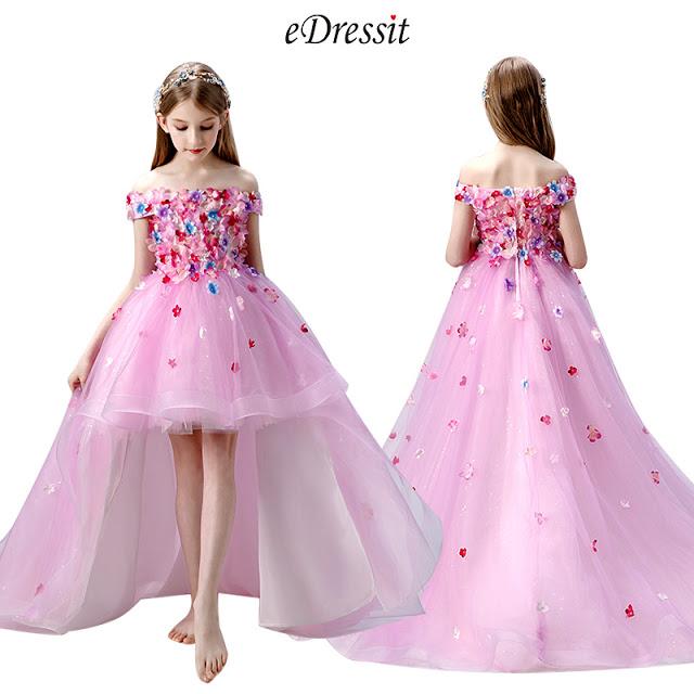 Princess Off Shoulder Flower Girl Dress