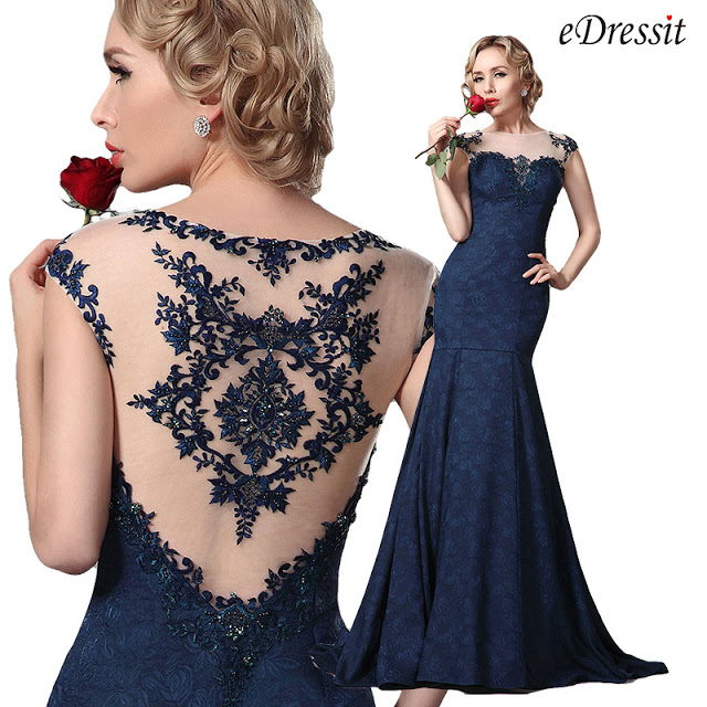 GORGEOUS EMBROIDERY CAP SLEEVES EVENING GOWN PROM DRESS