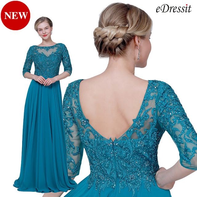 NEW PEACOCK BLUE FORMAL MOTHER OF THE BRIDE DRESS