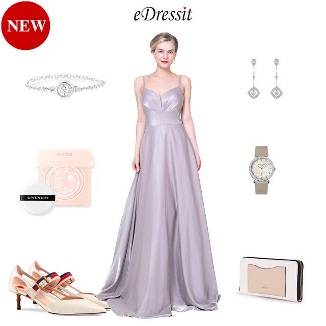 NEW SPAGHETTI STRAPS V-CUT PARTY EVENING DRESS